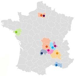 Carte Fédération localisation des associations ANEF